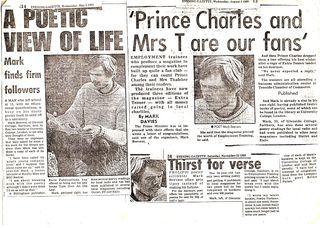 Mark Beevers Evening Gazette cuttings